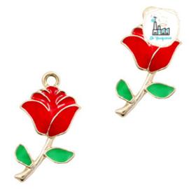 bedels roos Goud-rood groen 23 x 12 MM
