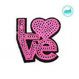Patch Love Magenta 4 cm