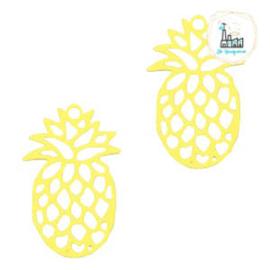 Bedel Bohemian ananas geel  19 mm x 12 mm