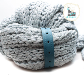 Sjaal Riempje Petrol 23 cm