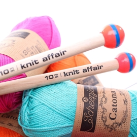 Knit Affair Breinaalden Luminous Red 10 mm lengte 35 cm