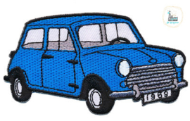 Applicatie Bloemetje MINI 9 x 5 cm Blauw