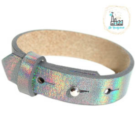 Cuoio armbanden leer 15 mm  Holographic Grey