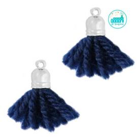 Kwastjes Donker Blauw 2 cm