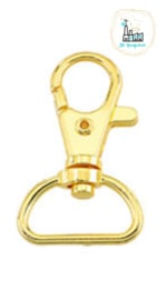 Sleutelhangers 41x24,5mm Goud