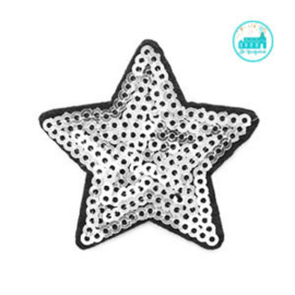 Patch Silver Star sequin 5 cm