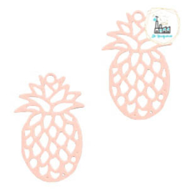 Bedel Bohemian ananas Light pink  19 mm x 12 mm