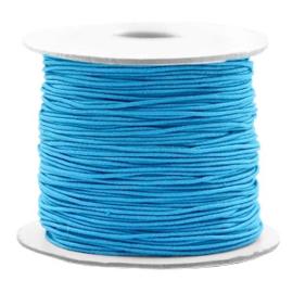 Gekleurd Elastiek Aqua Blauw