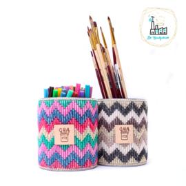 Leren Label Kwasten en Pennen voor pennenbakjes