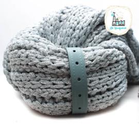 Sjaal Riempje Grijs Groen 23 cm