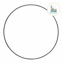 Metalen Ring 10 cm dikke kwaliteit Zwart