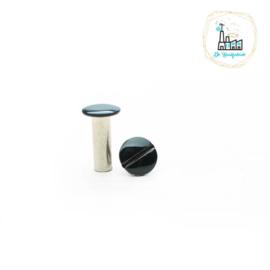 Schroefsluiting 5 mm x 15 mm Zwart voor Tas Hengsels of voor Leren Labels te bevestigen.