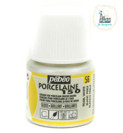Porseleinverf Pébéo  056 Metallics Pearl White flacon 45ml