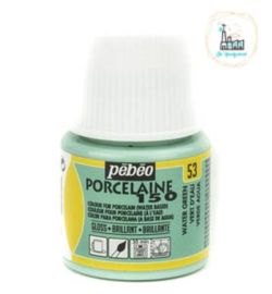 Porseleinverf Pébéo 053 Pastel Water Green flacon 45ml