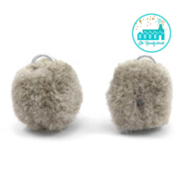 Mini Pompons 15 mm Taupe