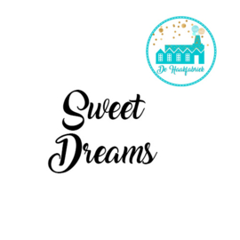 Big Labels 8 cm x 3 cm Sweet Dreams Overdwars
