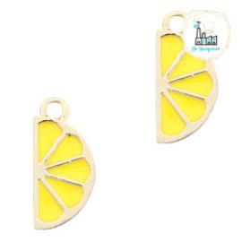 bedels citroen Goud- geel 19 X 9 MM