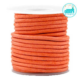 Round Leather String 3 mm Orange