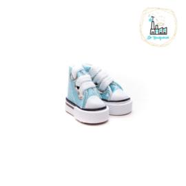 Sneakers voor Amigurumi Poppetjes Aqua Blauw