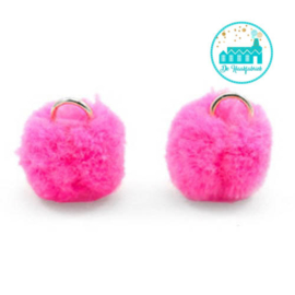 Mini Pompons 15 mm Hot Pink
