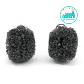 Mini Pompons 15 mm Antracite