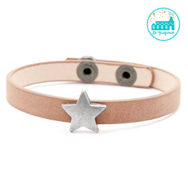 ARMBANDJE MET STER LIGHT BROWN