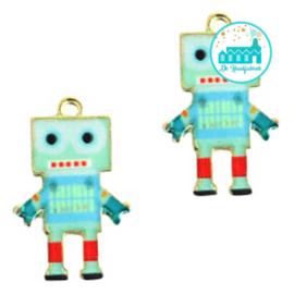 Bedel Robot Aqua / Rood  22 mm x 14 mm