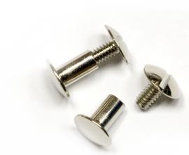 Schroef 5 mm x 5 mm voor Tas Hengsels of voor Leren Labels te bevestigen.