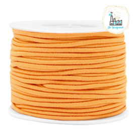 Koord Elastiek 1 meter 2 mm breed ORANJE