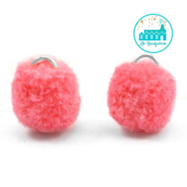 Mini Pompons 15 mm Oranje / Roze