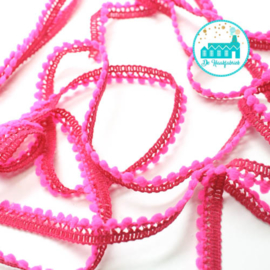 Mini Pompon Strip Magenta 1 meter