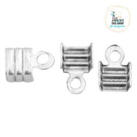 Metaal veterklem 3mm Zilver (nikkelvrij)