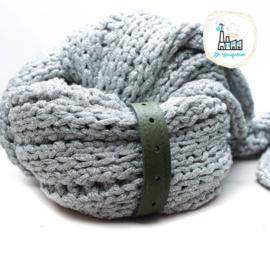Sjaal Riempje Olijf 23 cm
