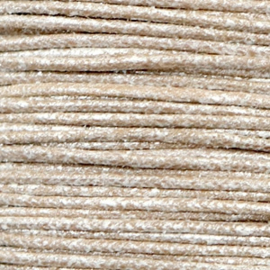 Waxkoord metallic 2.0 mm Tan grey