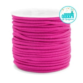 Koord Elastiek Fuchsia  1 meter 2,5 mm breed