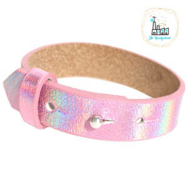 Cuoio armbanden leer 15 mm  Holographic Rose