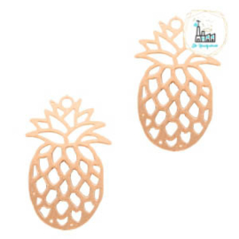 Hangers bohemian ananas Rosegold 19 mm x 12 mm