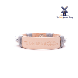 Leren Armband You are one in a Million 004