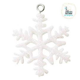 Bedel Snowflake Glitter 34x26mm groot