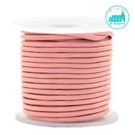 Round Leather String 2 mm Pink