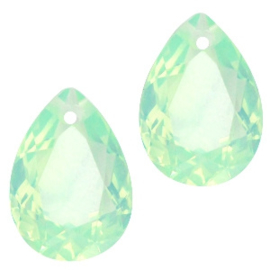 Glashanger 10x14mm CRYSOLITE GREEN OPAL