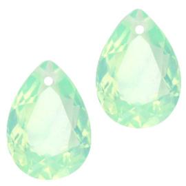 Glass Pendant 10x14mm CRYSOLITE GREEN OPAL