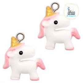 Unicorn White-pink small 22x18mm