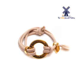The Dutch Bracelet Factory Originals Love Faith Hope 047 Gold