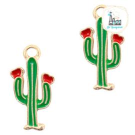 bedels cactus Goud-rood groen 18 x 9 MM