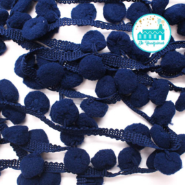 Pompon Strip Dark Blue 1 meter / pompons 1 cm