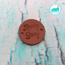 Ronde Leren label 3,5 cm Lovely Scarf
