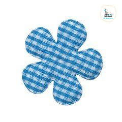 Applicatie Bloem 35 MM Ruit Blauw
