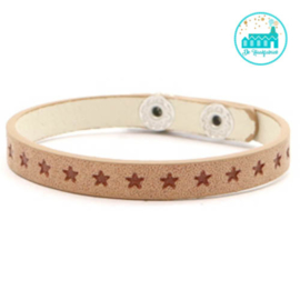 ARMBANDJE MET STERRETJES LIGHT BROWN