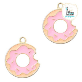 bedels donut Goud-roze 18 x 15 MM